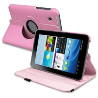 """360-degree Swivel Leather Case  compatible with Samsung© Galaxy Tab 2 7"""" 3G"""