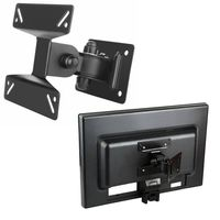 "Wall Mount Bracket compatible with  Flat Panel LCD / Plasma TV [B01], Max 33lbs, 10"" - 24"", Black"