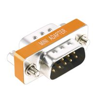 DB9 M/M Null Modem Mini Type Adapter