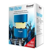 i.Sound Fire Glow Portable Speaker, Blue