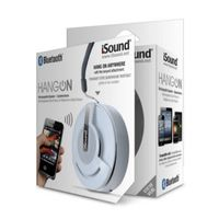 i.Sound Hang On Bluetooth Speaker / Speakerphone, White