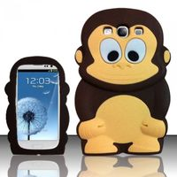 Monkey Style 3D Silicon Case compatible with Samsung Galaxy S3 III i9300, Brown Monkey SCMK