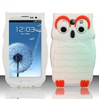 3D Owl Silicon Case compatible with Samsung Galaxy S3 III i9300, White SCOWL3D
