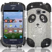Full Diamond Design Cover compatible with Samsung S738G/S730g/S740C, Panda Bear FPD