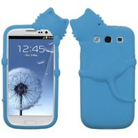 MYBAT Skin Case compatible with Samsung Galaxy S III, Baby Blue Cat Peeking Pets