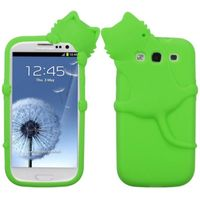 MYBAT Electric Peeking Pets Skin Case compatible with Samsung Galaxy S III, Green Cat