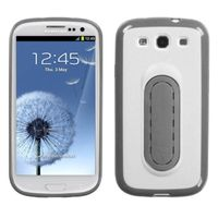 MYBAT White Protector Case Phone Cover compatible with Samsung Galaxy S III / S3 With Snap Tail Stand