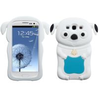 MYBAT Pastel Skin Case compatible with Samsung Galaxy S III, Tropical Teal/White Cheeky Dog