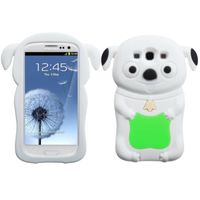 MYBAT Electric Pastel Skin Case compatible with Samsung Galaxy S III, Green/White Cheeky Dog