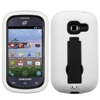 ASMYNA Black/White Symbiosis Stand Protector Cover Compatible With Samsung R740C (Galaxy Discover), S738C (Galaxy Centura)