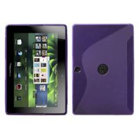 MYBAT Thermoplastic Polyurethanes / TPU Flexible Gel Skin Case Compatible With Blackberry PlayBook ,Purple / S Shape