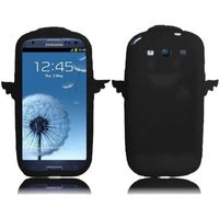 Angel Silicone Skin Cover Case compatible with Samsung Galaxy S3 i9300, Black