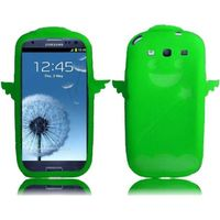 Angel Silicone Skin Cover Case compatible with Samsung Galaxy S3 i9300, Neon Green