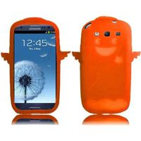 Angel Silicone Skin Cover Case compatible with Samsung Galaxy S3 i9300, Orange