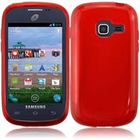 Discover Case Frosted TPU Cover Case compatible with Samsung Galaxy Centura S738C S730G S740C Discover, Red