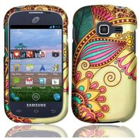 Discover Rubberized Design Cover Case compatible with Samsung Galaxy Centura S738C S730G S740C Discover, Antique Flower