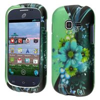 Discover Rubberized Design Cover Case compatible with Samsung Galaxy Centura S738C S730G S740C Discover, Sublime Flower