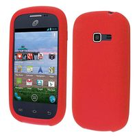 Discover Case Silicone Skin Cover Case compatible with Samsung Galaxy Centura S738C S730G S740C Discover, Red