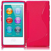 S Shape TPU Cover Case compatible with Apple iPod Nano 7, Hot Pink