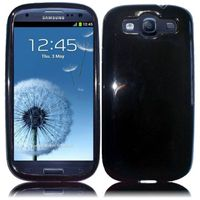 TPU Cover Case compatible with Samsung Galaxy S3 i9300, Black