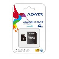 ADATA Micro SDHC Card w/ Adapter - 4GB Memory Card