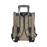 Anima Brown Pet Carrier Dog Rolling Backpack Travel Airline Wheel Luggage Bag Stroller - One Size