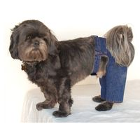 Anima Blue Pet Dog Puppy Cool Denim Pants Trousers Jeans Clothes Apparel - Small