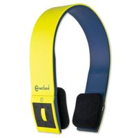Connectland Bluetooth v2.1+EDR Wireless Headphone with Microphone, Yellow