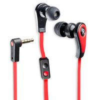 Connectland Stereo Earphone with Microphone for Digital Audio, Red