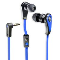 Connectland Stereo Earphone with Microphone for Digital Audio, Blue