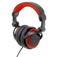 Connectland MP3 Gaming / Multimedia Stereo Headset, Black and Red