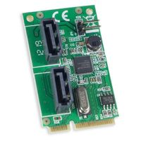 Syba Mini PCI Express 2.0 2-Port SATA6G Card, non-RAID, ASM1061 Chipset