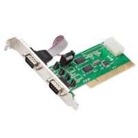 Syba PCI 32-Bit, 2x Port Serial DB9 Card, WCH351Q Chipset