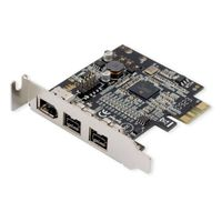 Syba Low Profile PCIe 1394b/1394a 2B1A Card TI Chipset Extra Regular Bracket
