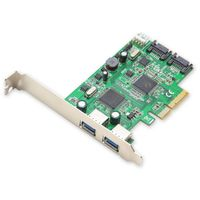 Syba Revision 2.0 PCIe 2.0 to USB 3.0 and SATA 3 Combo Card with ASMedia Chipset
