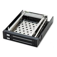 IOCrest Removable Mobile Rack for Dual 2.5? SATA2 HDD, Fit in 3.5? Bay