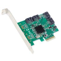 IOCrest PCIe 2 Interface 4-Port Internal SATA Controller Card 88SE9235 Chipset