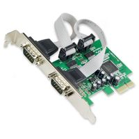 IOCreat PCIe 2x Port Serial DB9 Card Moschip 9922 Chipset