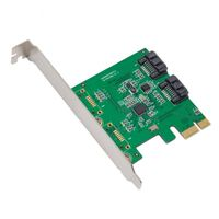 IOCreat PCIe 2 Port Internal SATA3 Controller Card 6Gbps