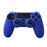 KMD Silicone Grip Case Compatible With Compatible With Sony PS4 Controller Blue