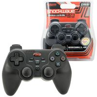 KMD 2.4Ghz Wireless Shock Wave controller Compatible With Sony PlayStation 3 Black