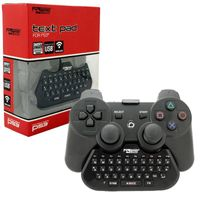 KMD Text Pad QWERTY Keyboard Compatible With Sony PlayStation 3 Controller Black