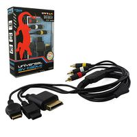 KMD 6 Feet Gold Plated AV Composite Cable Compatible With Sony PlayStation 2/3/ Xbox 360/Nintendo Wii