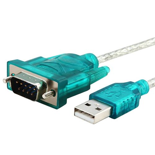 USB 2.0 to RS232 Converter Cable, 3FT, Translucent