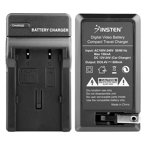 BP-2L12 BP-2L14 NB-2L NB-2LH Compact Battery Charger Set  compatible with Canon MV-Series MVX35i, Black