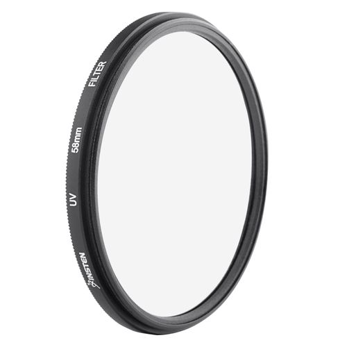 58mm-Ultra Violet (UV) Lens Filter  compatible with Samsung© T100, Black