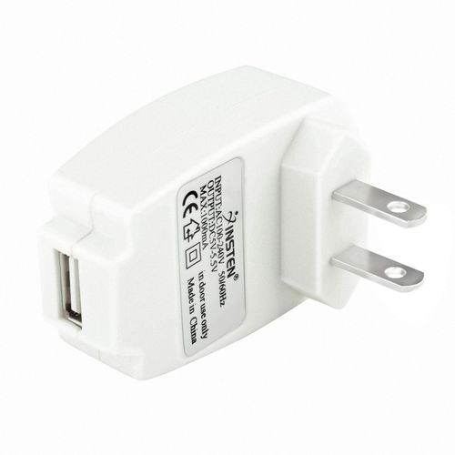 Universal 1A USB Travel Charger Adapter  compatible with Sony NWZ-A826, White