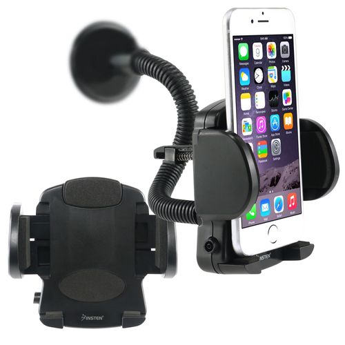 Cell phone Holder - Windshield Mount  compatible with SanDisk Sansa C200 series C240, Black
