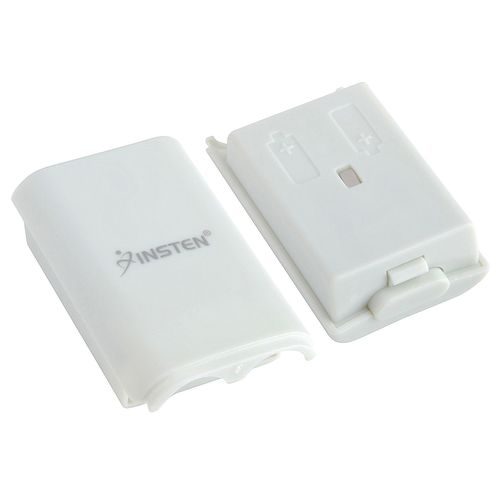 Wireless Controller Battery Pack Shell  compatible with Microsoft Xbox 360, White