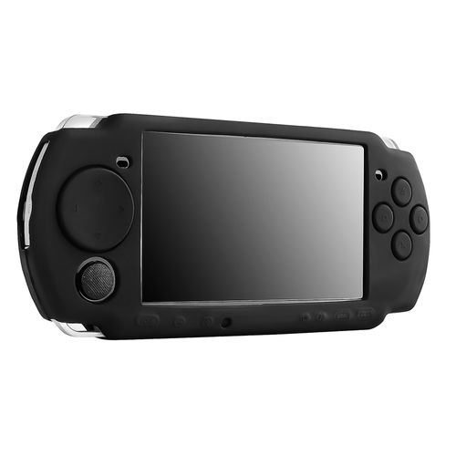 Silicone Skin Case  compatible with Sony PSP slim 2000 series, Black